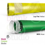 Cable Illustrations for a catalogue | Top : Lay Flat Hose | Bottom : MDS Hose