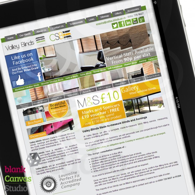 Website | Designed and Developed for Valley-blinds Featured Image