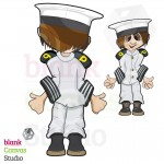 Deck Cadet Character Designed in 2D | Created for a Computer Based Training Course