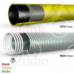 Cable Illustrations for a catalogue | Top : RTH Hose | Bottom : WDH Hose