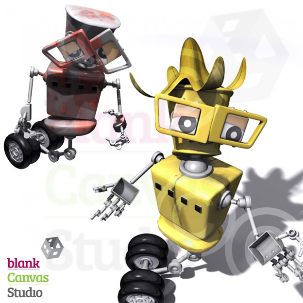 Character Illustration | Robot | Designed and Created for a Computer Based Training Course