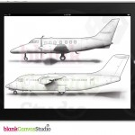 Technical Illustrations | Jetstream-31-32 and BAe-146 Aircraft-Profiles