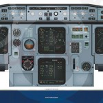 Airbus A320 Main Console Panel Poster Created For Training Purposes using Adobe Illustrator and In Design