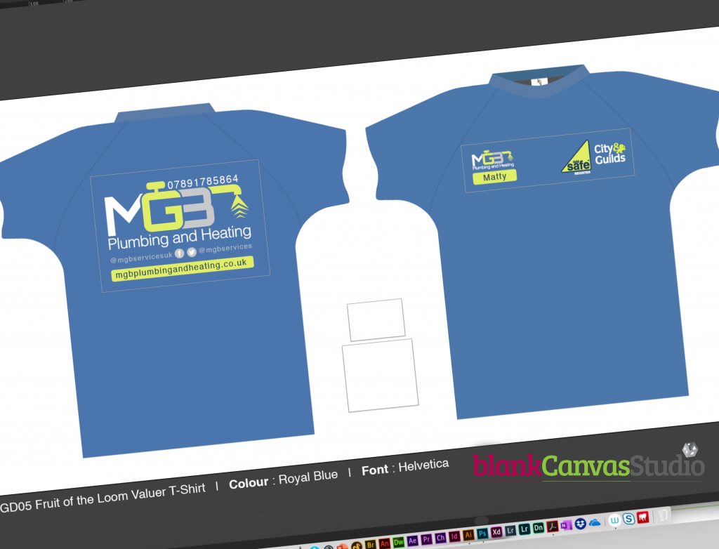 MGB t-shirt Design in Adobe Illustrator